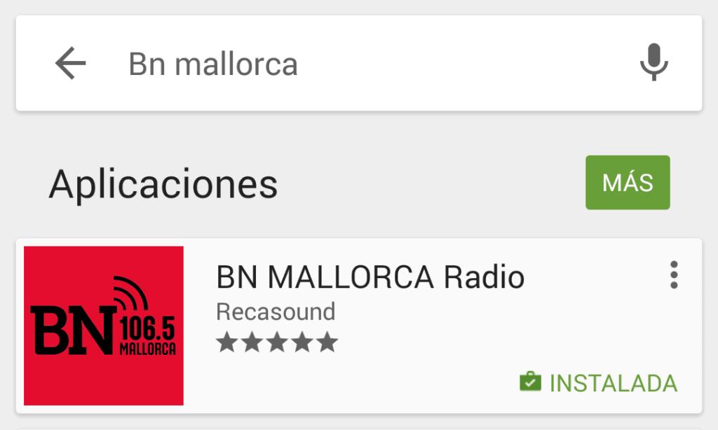 App BN Mallorca Nueva IOS _ Android